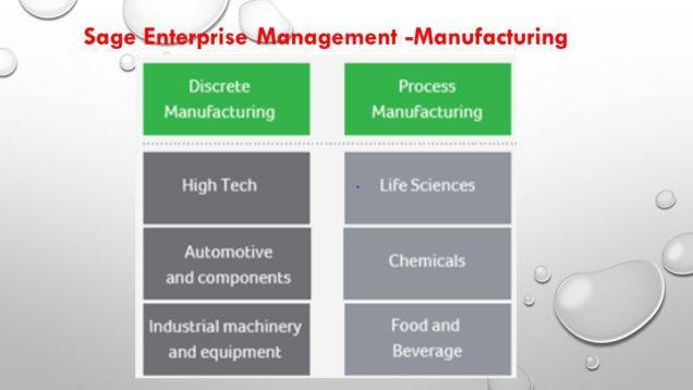 Sage Enterprise Management -Manufacturing